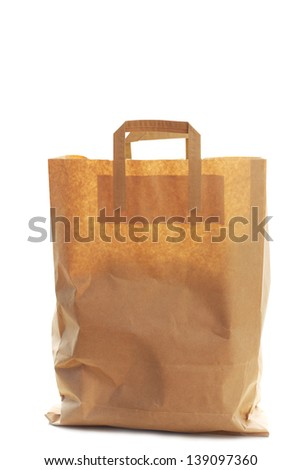 Paper shopping eco bag - stock photo