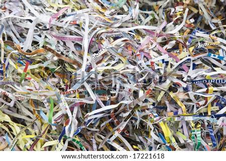 Paper shreds - stock photo