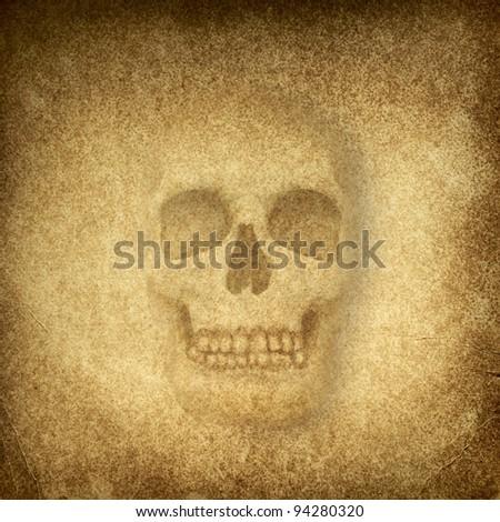 Paper skull - stock photo