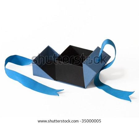 paper small box reminds a boat - stock photo