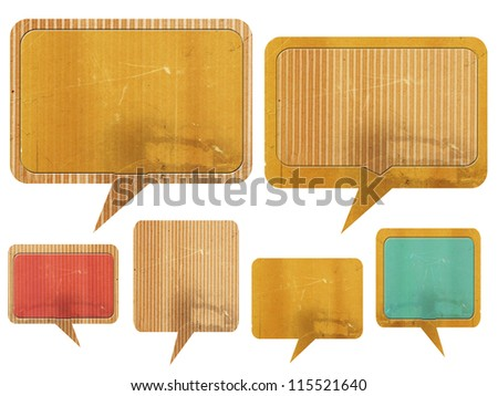 paper speech bubble set - stock photo