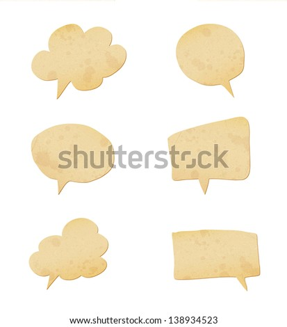 paper speech bubbles set. Raster copy of vector illustration