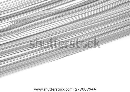 paper stack closeup on white - stock photo