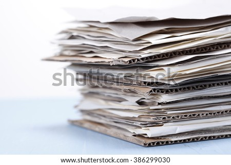 Paper stack for recycling