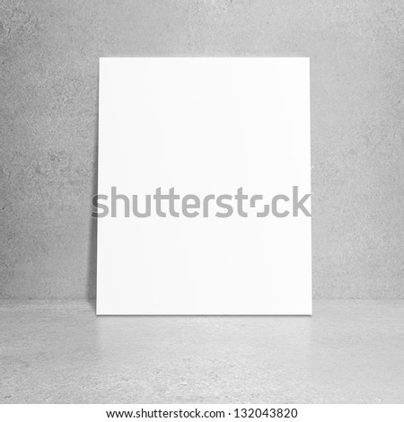 paper stand and concrete wall - stock photo