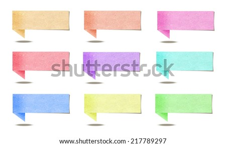 paper stick on white background
