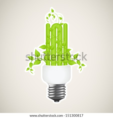Paper sticker of floral power saving lamp.