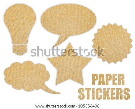 Paper stickers set