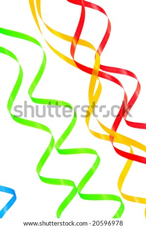 Paper streamer isolated on a white background