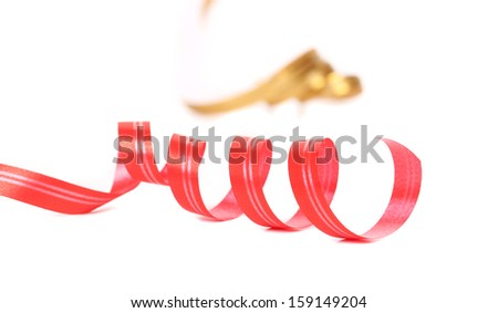 Paper streamers. Isolated on a white background. - stock photo