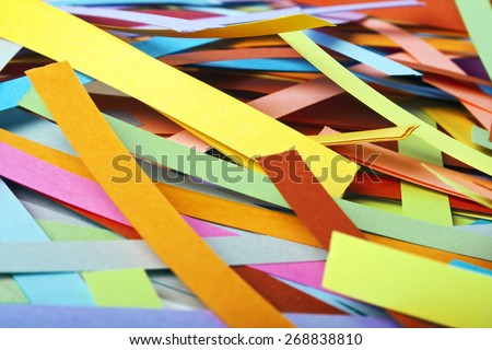 Paper strips in rainbow colors, can use as background - stock photo