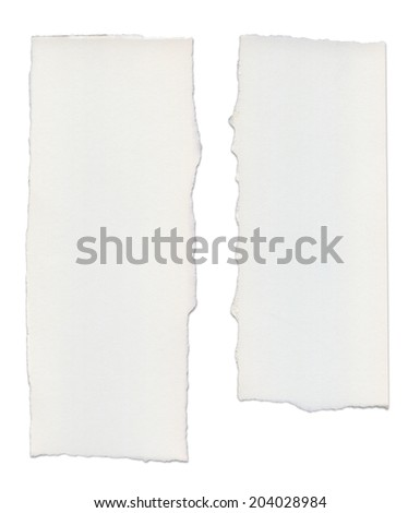 Paper tears, isolated on white with clipping path - stock photo