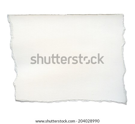 Paper tears, isolated on white with clipping path
