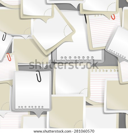 Paper text bubbles seamless background. Raster version - stock photo