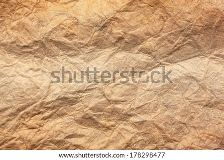 Paper texture brown paper sheet. Sheets of crumpled paper.