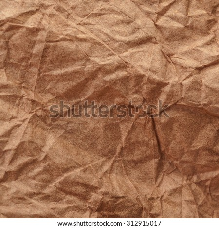 Paper texture - brown paper sheet. Textured crumpled paper