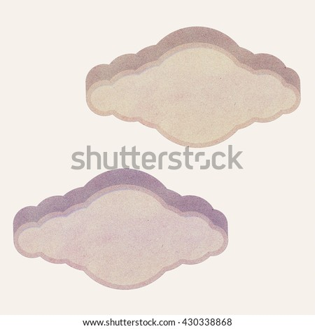 Paper texture ,Cloud Talk tag on white background