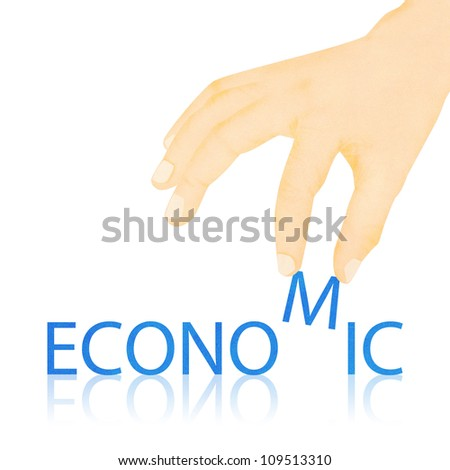 Paper texture ,Hand made economic word - stock photo