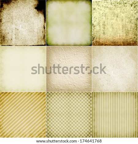 paper texture. old book page backgrounds. collection - stock photo