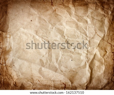 Paper texture - old paper sheet./wrinkled paper texture or background - stock photo