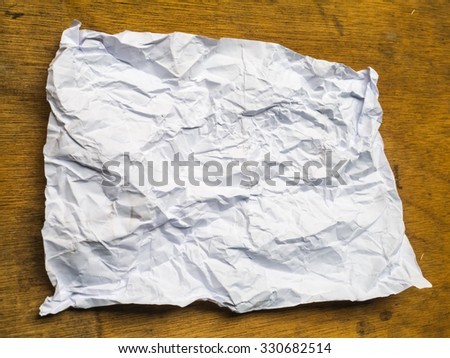 Paper texture. paper sheet on wood - stock photo