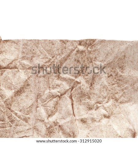 Paper texture. White paper sheet isolated over white background - stock photo