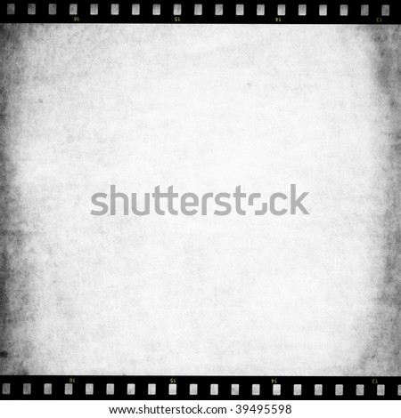 Paper texture with film strip - stock photo