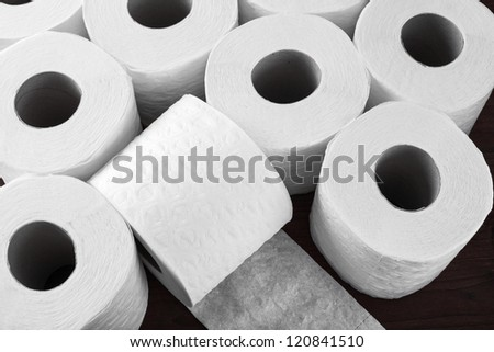 paper toilet rolls - stock photo