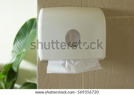 paper towel dispenser in bathroom. Paper Hand Towels Stock Photos  Royalty Free Images  amp  Vectors