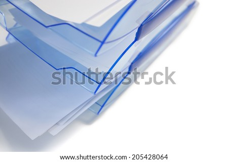 Paper tray on white background - stock photo