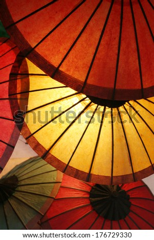 paper umbrella - stock photo
