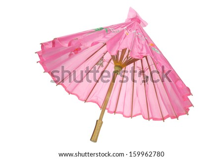 Paper Umbrella on White Background