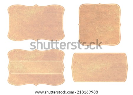 paper Vintage labels set - stock photo