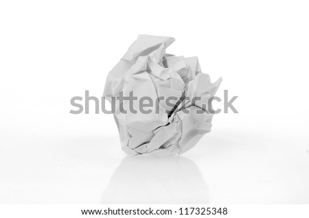 Paper wad - stock photo