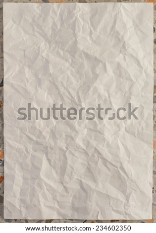 Paper  White paper sheet. - stock photo