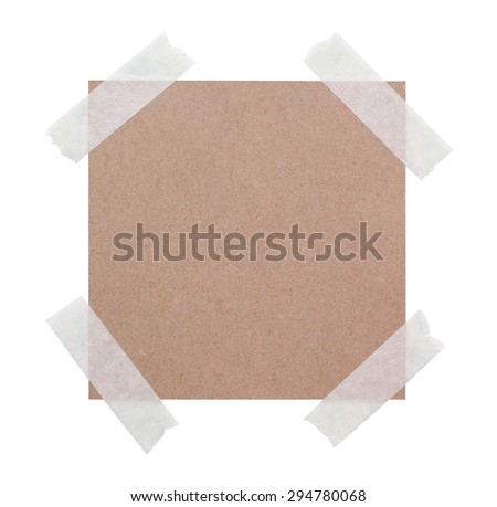 Paper with adhesive tape - stock photo