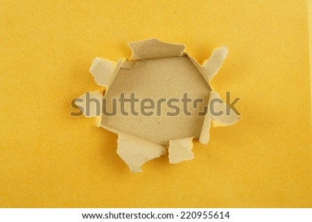 Paper with hole - stock photo