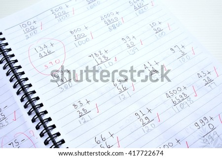 paper with maths calculation