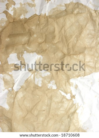 Paper with tea and coffee stained marks