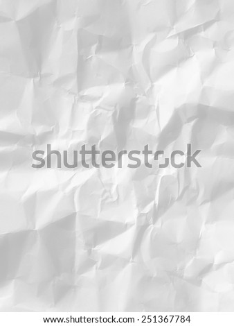 paper with white crumpled surface - stock photo