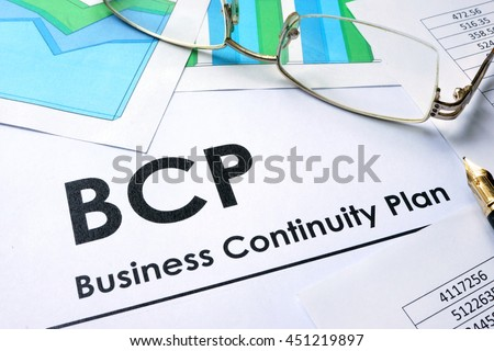 Elegant Paper With Words BCP Business Continuity Plan