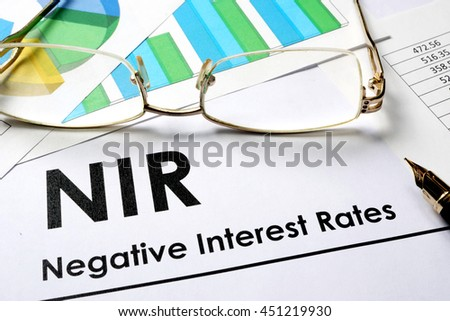 Paper with words NIR  as Negative Interest Rate
