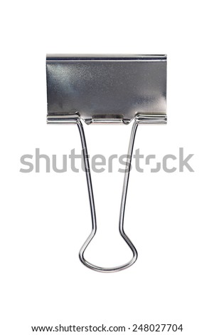 Paperclip on isolated white background
