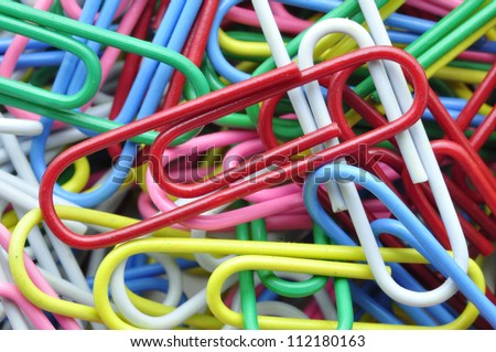 Paperclips isolated on white blackground