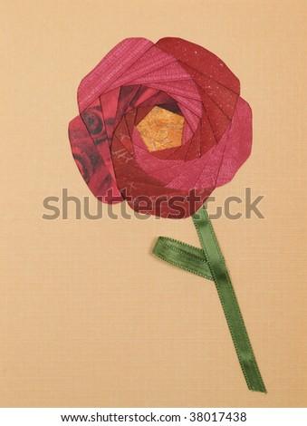 Papercraft greeting card face - stock photo