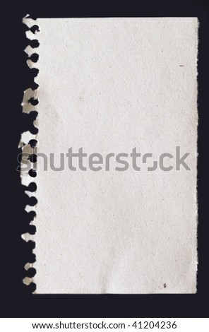 papernote on black background - stock photo