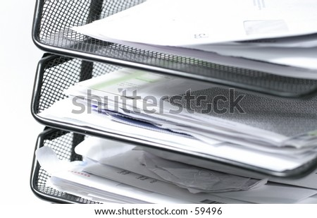 Papers in an inbox - stock photo