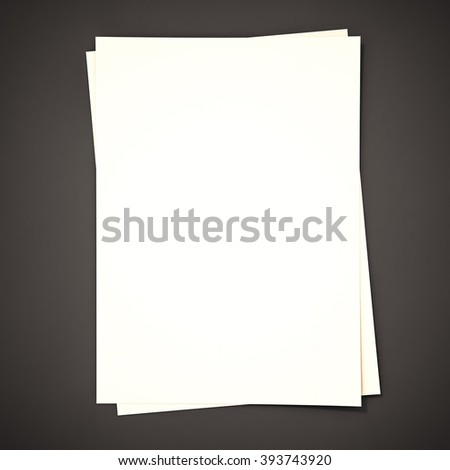 Papers on black background, 3d rendered - stock photo