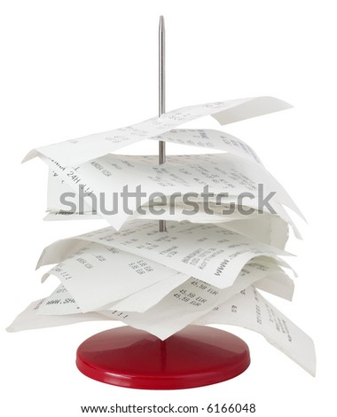Paperstick - isolated on white - stock photo