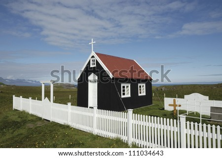 Papey island wooden church, Iceland